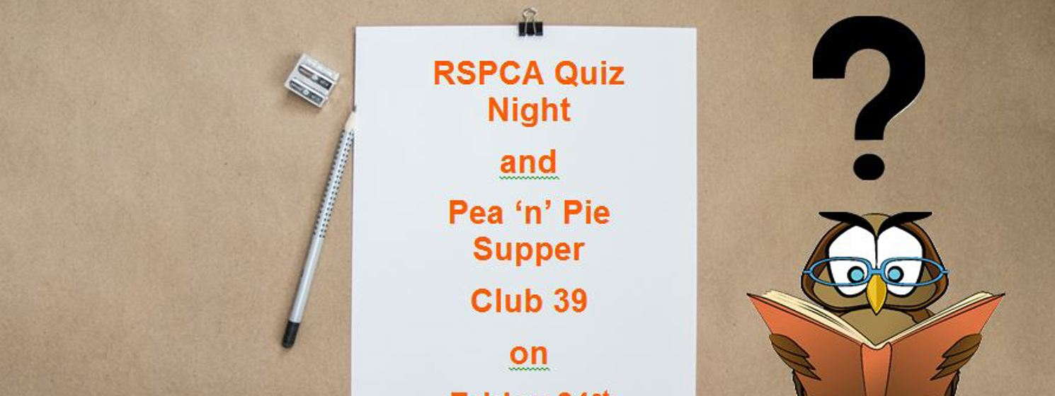 The annual RSPCA Pub Quiz